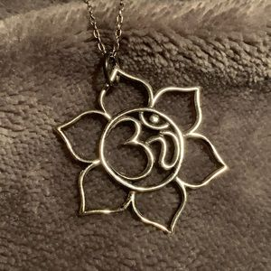 """Jewelry - Sterling silver """"Om"""" necklace"""